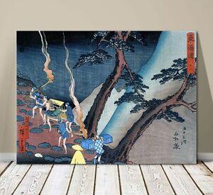 "Beautiful Japanese Sea Art ~ CANVAS PRINT 8x10"" ~Hiroshige Night Travellers"