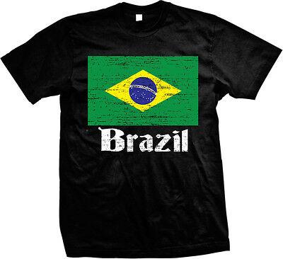Brazilian Distressed Country Flag - Brazil Pride Brasil Mens T-shirt Brazil Country Flag