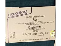 SOLD Pixies ticket x1 Brixton Tues 6th Dec delivered by 1pm next day