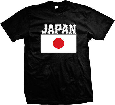 Country Flags T-shirt - Bold Japanese Country Flag - Japan Pride  Mens T-shirt