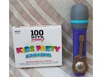 Karaoke CDs and Hannah Montana microphone