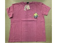 "Mens Weird Fish ""Lock Stock & Two Smoked Mackerel"" Red T-Shirt Size L BNWT"