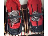 Carrycot and 2 seats for a First Wheels Chassis