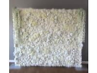 Stunning hand made bespoke design one of a kind 3D effect Flower Wall for hire £150