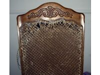 antique vintage chair for repair/upcycling project with vintage back cover seat/desk chair fancy