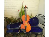 4/4 Violin Outfit - Set up and ready to play