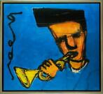 Herman Brood | Giclée: Chet Baker | Afmeting 100cm x 110cm