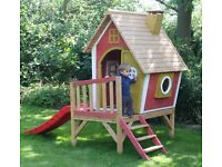 Crooked Tower Wooden Playhouse with Slide ***Discounted Stock*** Limited offer