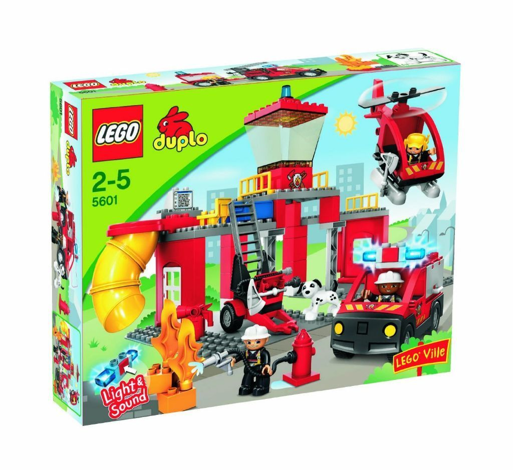 Lego Duplo 5601 Fire Station Boxed With Instructions Excellent