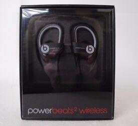 Powerbeats2 Wireless in Black/Grey Brand New Factory Sealed £120