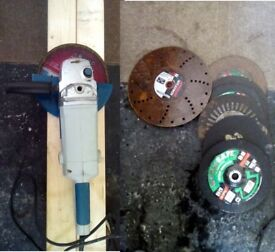 ★★★Professional angle grinder 9 inches★★★ + new discs steel/wood/brick/ various