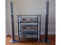 Acoustic Solutions Hi-Fi Separates System with speakers and stand