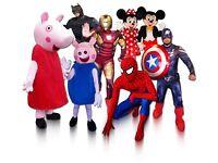 Talking ** MASCOTS ** Entertainers Minnie Mickey Mouse Pig Spiderman Superheroes Peppa Batman hire