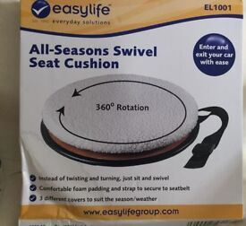 Easylife —all season swivel seat with fleece cushion (for the car )NEW IN BOX