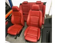 bmw 1 series red seats e88