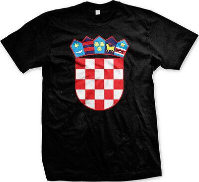 Croatia Coat Of Arms (Croatia Coat of Arms Crest - Nationality Pride Croatian Mens T-shirt )
