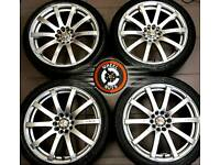 "18"" KEI Racing Force 10 alloys 5x112 5x110, great condition, excellent matching tyres."