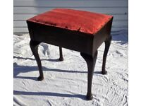 Vintage Oak Piano Storage Stool