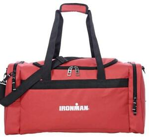 IRONMAN 24 Inch Large Sports Travel Size Duffle Gym Bag (Red)
