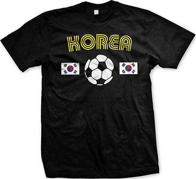 Korea Soccer Ball Flag - Pride Korean Nationality Mens (Korea Soccer Pride T-shirt)