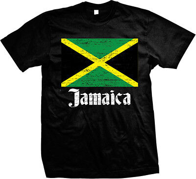Country Flags T-shirt - Distressed Jamaican Country Flag - Jamaica Pride  Mens T-shirt