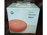 Google Home Mini - coral, brand new, £35