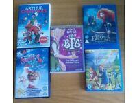 Children's DVD's and Blu ray movies
