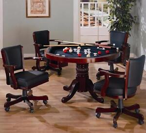 Amazing 5 Piece Poker/3-1 Game Table with Chairs-Show off to all your friends!  Four Finishes to choose from
