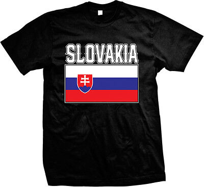 Slovakia Bold Country Flag - Slovakian Pride Nationality  Mens - Slovakia Flag T-shirt