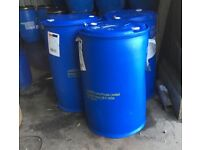 Blue 205 litre barrels