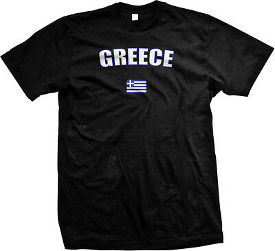 Country Flags T-shirt - Greece Greek Athens Europe Flag Country Pride Islands Mens T-shirt
