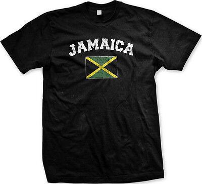 Jamaica Country Flag Irie Jamaican Pride Football Soccer Mens T-shirt
