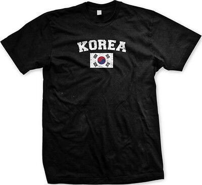 South Korea Country Flag Korean ROK Pride Football Soccer Mens (Korea Soccer Pride T-shirt)