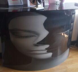 Black glass surround