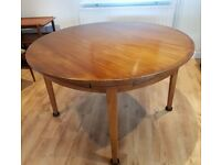 Vintage Dyrlund Danish Teak Flip Flap extending Dining Table + 2 chairs - Dansk Interiors