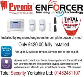 Professional wireless intruder alarm. Wifi enabled, smartphone compatible.