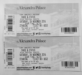 x2 Chase and Status Tickets @ Alexandra Palace Sat 26th Nov