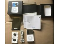 Apple IPOD Classic, 5th Gen ,60gb, original box, factory plastic still on front, accessories, RARE!