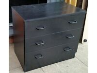 small chest of 3 drawers 85cm wide x 38cm depth x 60cm height. in excellent condition.