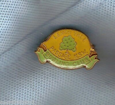 Lemon Tree Passage Nsw  Bowling   Club  Lapel Badge