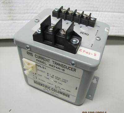 Scientific Columbus Rms Current Transducer 4074a-8