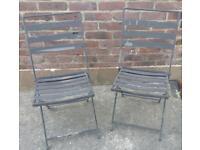 Folding Metal Garden Chairs