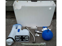 Derwent Macdee Toilet Cistern Tank Low Level With Inlet Syphon Ball Float FOR SPARES OR REPAIRS