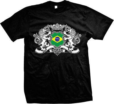 Brazil Country Flag Crest - Brazilain Pride Brasil Mens T-shirt Brazil Country Flag