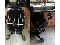 Maxi Cosi Car seat. With Quinny frame