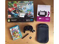 Wii U 32GB Mario Kart 8 Premium Edition + Mario World & Accessories