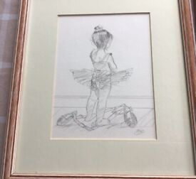 3 YOUNG BALLERINA SKETCHES by STEVE O'CONNELL