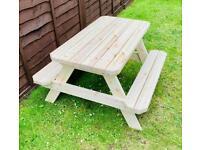 New Children's Garden Picnic Bench