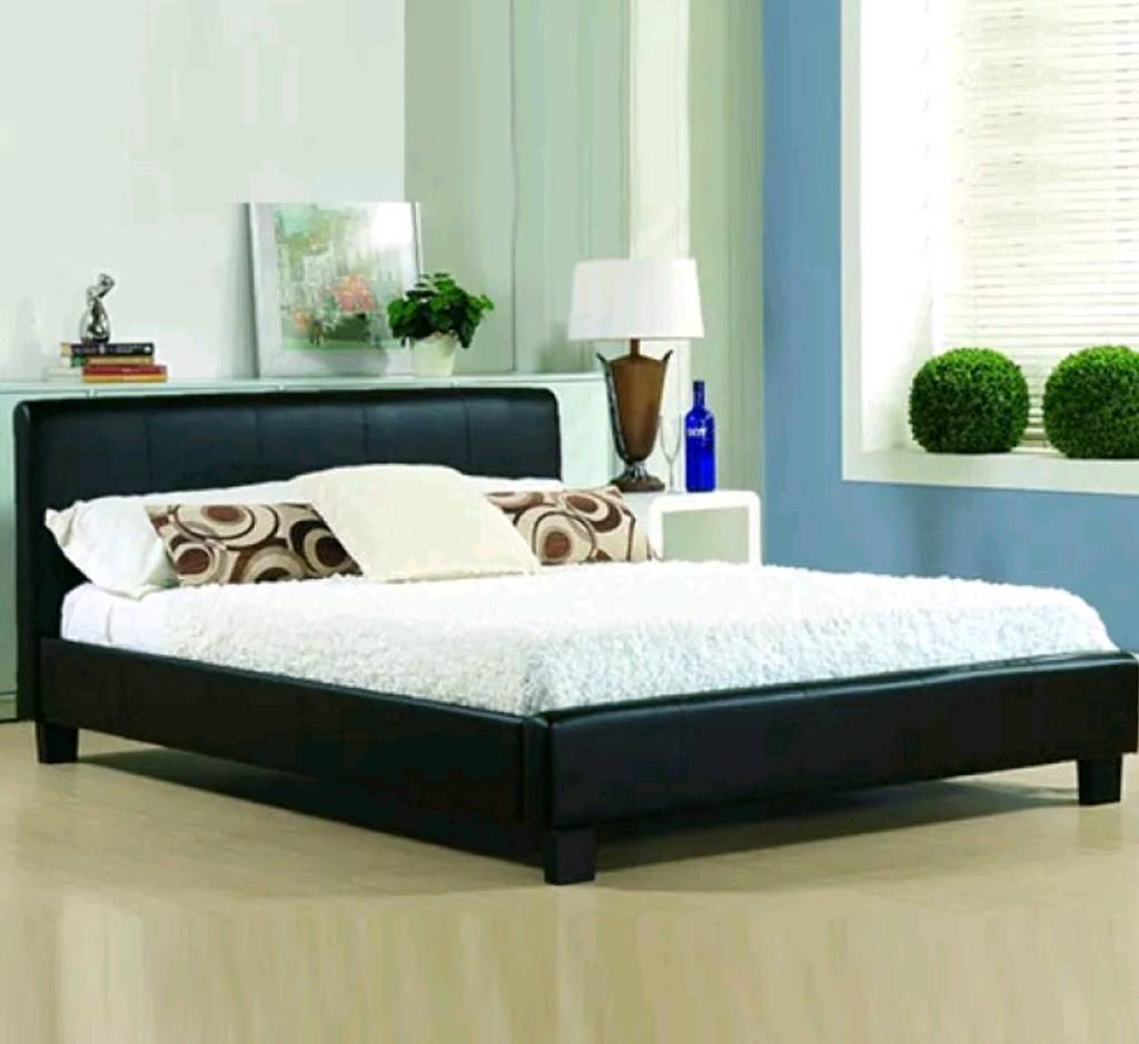 Double bed king size faux leather.