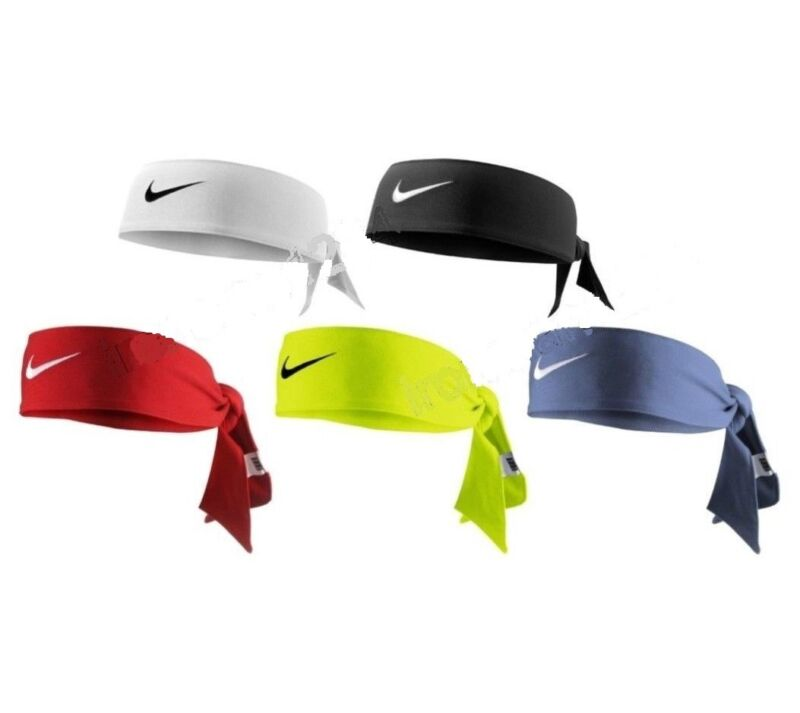 746d631691a9b NEW Nike Dri-Fit Head Tie 2.0 Womens Headband Tennis Basketball White Black  Volt